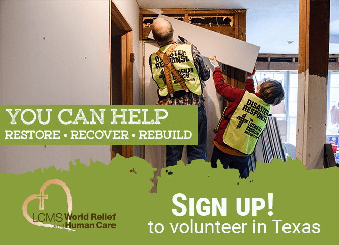 You Can Help - Sign Up to volunteer in Texas