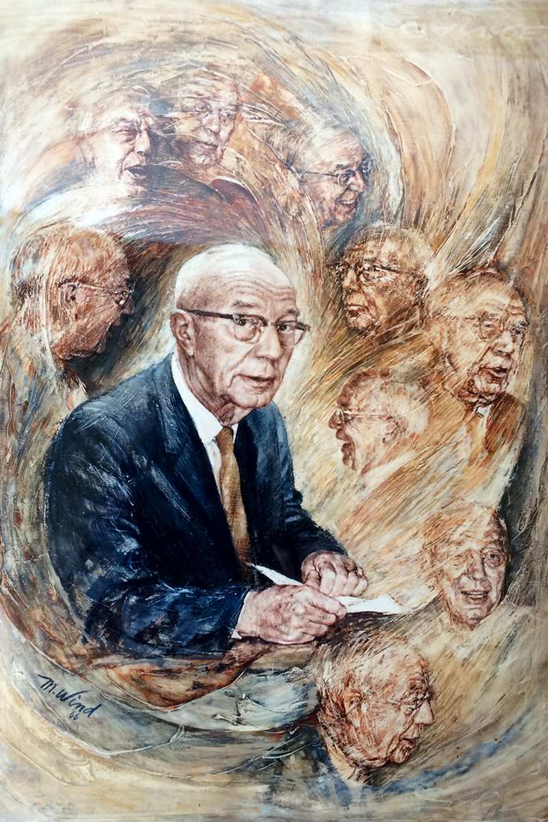 The Rev. Henry F. Wind is pictured in a 1966 painting by his daughter, Margery Wind Baerwald. LCMS Specialized Pastoral Ministry recently announced the creation of the Henry F. Wind Award for Outstanding Leadership in SPM. (Baerwald)