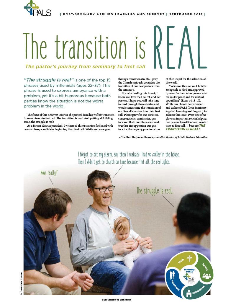 Reporter' Insert: The transition is real: The pastor's journey from